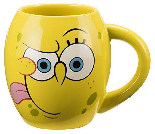 Vandor 21061 SpongeBob Square Pants Oval Ceramic Mug, 18-Ounce, Multicolored (Spongebob Coffee Cup compare prices)