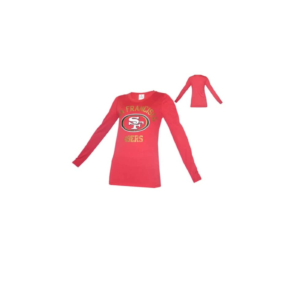 WOMENS Pink Victorias Secret NFL San Francisco 49ers Long Sleeve Tee