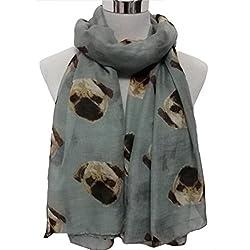 Decorie Cute Puppy Dog Pattern Soft Long Scarf Wraps for Women Dress