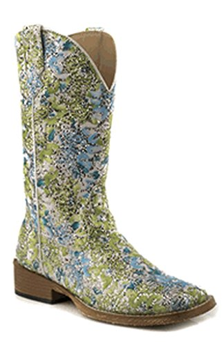 Roper Boots Ladies Blue Faux Leather Glitter Bling Cowboy 11