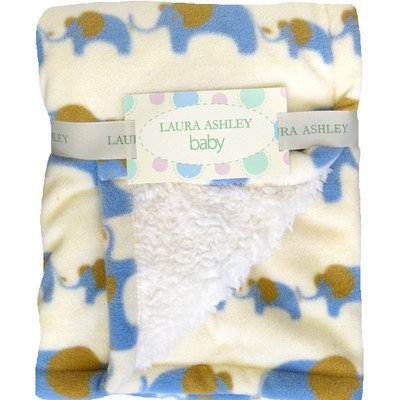 Elephant Crib Throw Color: Blue