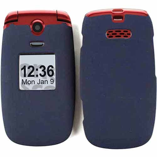 Rubberized Cover For Samsung Jitterbug Plus Case Faceplate Hard Plastic Non Slip Navy Blue A008-Xxc R220 Cell Phone Accessory