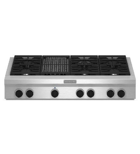 Kitchenaid KGCU482VSS Commercial-Style Gas Cooktop (Kitchen Aid Cooktop Gas compare prices)