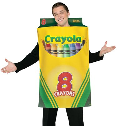 Rasta Imposta Mens Crayola Crayon Box Funny Adult