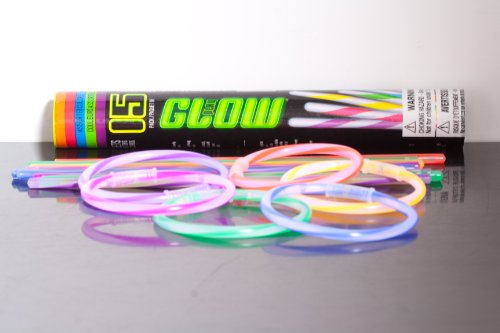 Glow in the Dark Bracelets and Connectors Assorted Colors Set of 15