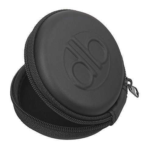 Dbsound Earphone Earbud Case, Black With Zipper Enclosure, Inner Pocket