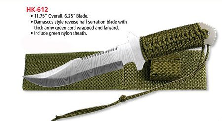 Survivor Hk-612 Fixed Blade Knife 11.75-Inch Overall