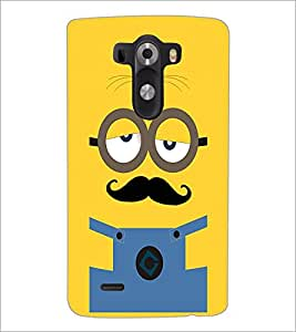 PrintDhaba Mustache D-2007 Back Case Cover for LG G3 (Multi-Coloured)