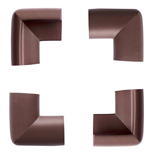 Sutton(Tm) Premium Child Proofing Corner Guard Lion Heart Corner Guards, Chocolate Brown Cove 16-Piece 8-Piece Extrs Dense Safe Corner For Cushion Value Pack Coffee (4 Pcs, Coffee) front-987523