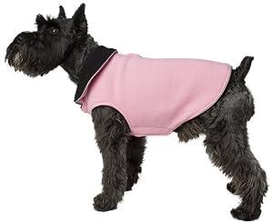 Legitimutt Reversible Fleece Classic Dog Coat, Size 24, Pink