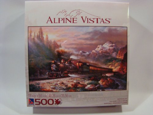 Alpine Vistas 500 Piece Jigsaw Puzzle: Canyon Railway