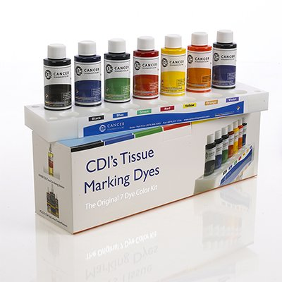 Tissue Marking Dye - Original 7 Dye Color Kit With Plastic Tray