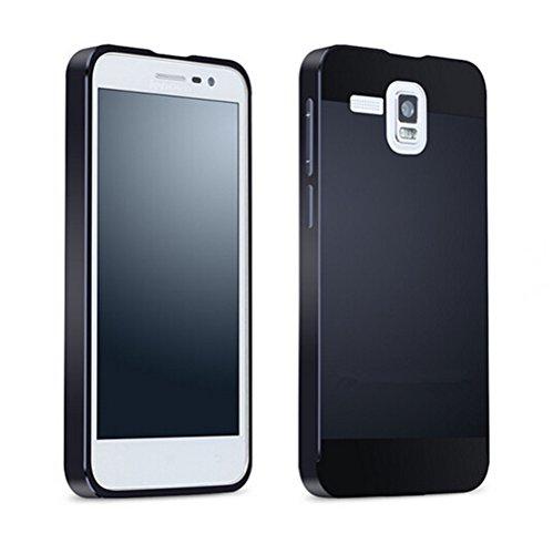 Tip-top® lenovoA8 A808T A806 Case,Aluminum Metal Bumper Frame Case with Acrylic Back Plate Cover for lenovo A806 A808T A8(Black)