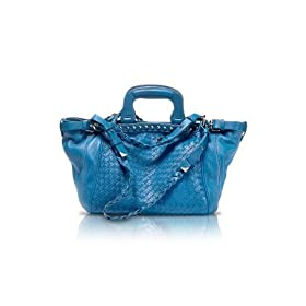 Francesco Biasia Grace - Woven Leather Tote Bag Cosmo Blue