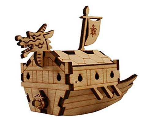 Desktop Wooden Model Kit Kids Turtle Ship / YG821 - 1