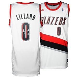 Damian Lillard Portland Trail Blazers Autographed adidas Swingman White Jersey with... by Sports+Memorabilia