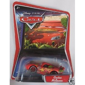 Disney Cactus Lightning McQueen Disney Pixar Cars First Edition 1:55 Scale Mattel Without New Symbol Logo On Background Card at Sears.com