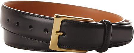 Cortina Leather Belt Black-Brass Size 36