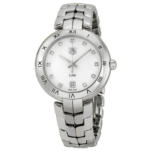 Tag Heuer Link Mother of Pearl Dial Steel Ladies Watch WAT1315BA0956