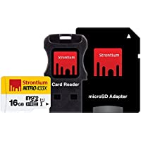 Strontium Nitro 16Gb Class 10 MicroSDHC UHS-1 (With Card reader & MicroSD Adapter)