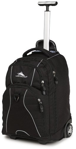 High Sierra Freewheel Wheeled Book Bag Backpack,