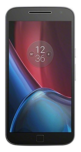 Lenovo Moto G4 Plus Smartphone LTE, Fotocamera 16 MP, Schemo 5.5 pollici Full HD 16M colori, Processore Octacore 1.5 GHz, 2 GB di RAM, 16 GB di Memoria Interna espandibile fino a 128 GB, Nero [Italia]