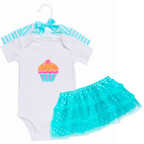 Baby Boutique Baby Girls Princess Tutu Set, Turquoise, 6-9 month