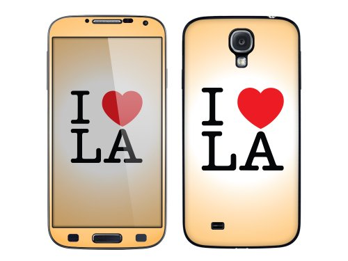 Cellet I Love La Skin For Samsung Galaxy S4 - Light Orange