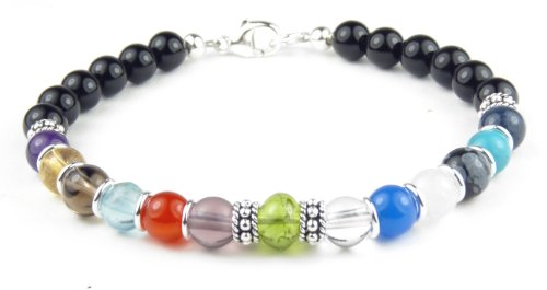 SobrietyStones 12 Step August Peridot Alcoholics Anonymous Anniversary Bracelet - Medium 7.25