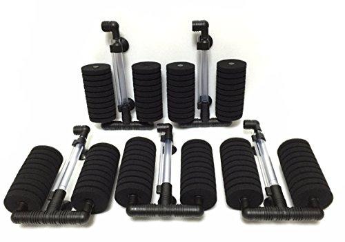 スポンジフィルター XY-2822 飼育水 ろ過 バクテリア 繁殖 メンテナンス 適合水槽60-90cm (5個セット)