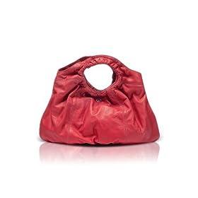 Francesco Biasia Scarlet - Calf Leather Open Handle Tote Bag Coral