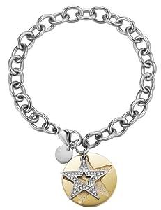 Esprit - ESBR11607B190 - Great Star Gold - Bracelet Femme - Acier inoxydable 20.1 gr - Cristal - Oxyde de zirconium - Blanc - 19 cm