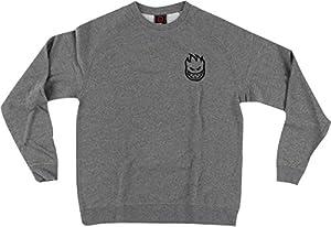 Spitfire Bighead Emblem Gunmetal Grey Large Crew Sweatshirt
