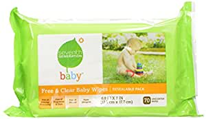 Seventh Generation Original Soft and Gentle Free and Clear Baby Wipes, 350 Count