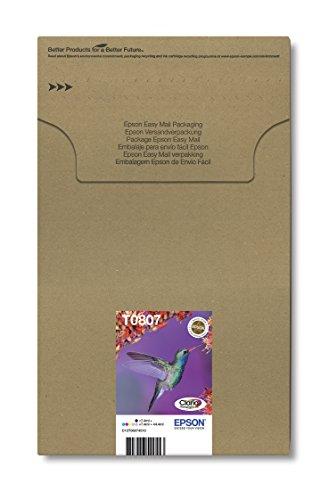 Epson T0807 Multipack Claria Photographic Ink Cartucce, 6 Colori, Multicolore