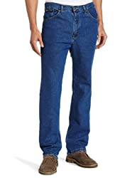 Lee Men's Big-Tall Regular Fit Straight Leg Jean, Pepper Wash Stretch, 52W x 34L