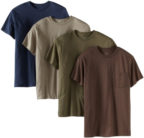 Fruit of the Loom Men's Four-Pack Pocket Tee