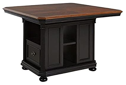 Rivington Hall Kitchen Island Base And Top - Black