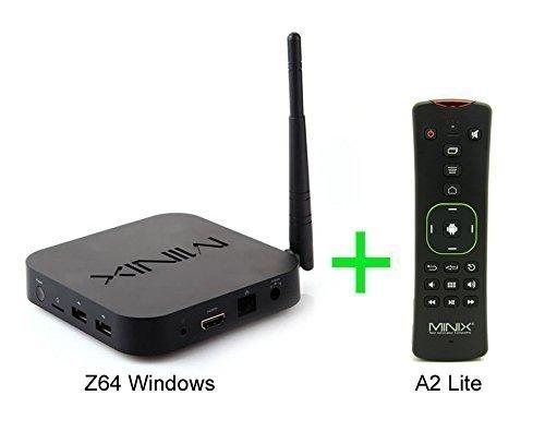 MINIX NEO Z64 Windows 10 Fanless Mini PC Smart TV Box Z3735F CPU 64 Bit 2GB Ram 32GB eMMc Rom Bluetooth 4.0 Full HD 1080P Streaming Media Player + Free MINIX A2 Lite Air Mouse Remote Control