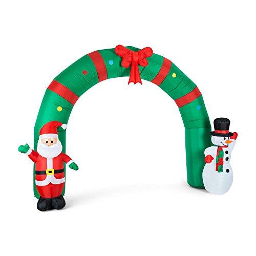 oneConcept Everywhite albero di Natale (neve simulata, decorazioni rosse e oro, altezza 180cm, illuminazione LED, effetti musicali)