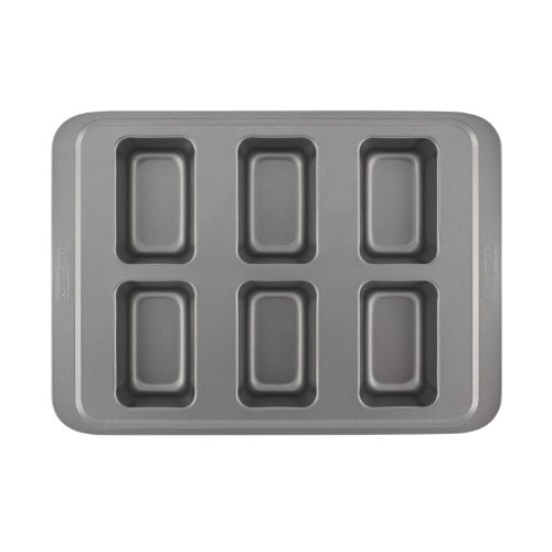 Cake Boss Basics Nonstick Bakeware  Cup Mini Loaf Pan Gray