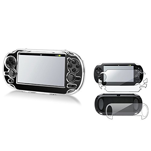 Eforcity® Clear Hard Crystal Case + Full Body Screen Protector Compatible With Sony Playstation Vita Pch-1000 (Ps Vita)