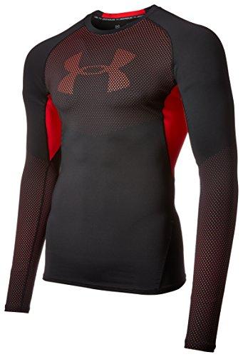 under-armour-hg-graphic-ls-blk-red-t-shirt-de-compression-homme-noir-fr-xl-taille-fabricant-xl