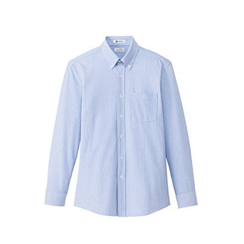 (フェイスミックス)FACEMIX メンズニット吸汗速乾長袖シャツ FB5028M 7 ブルー 3L
