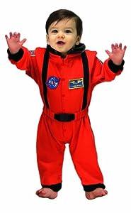 Jr. Astronaut Suit, size 6 to 12 Months (orange)