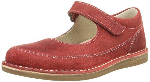 BirkenstockJune - Scarpe col tacco Unisex - Bambini , Rosso (Rouge (Dark Red)), 32