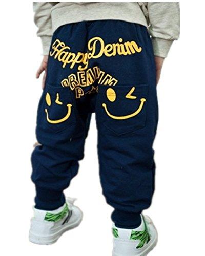 Bambini ragazza dei ragazzi unici vestiti sorridenti Harem dei pantaloni dei cartoni animati (100 (1-2 anni), B)
