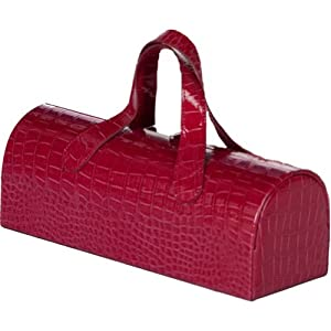 Picnic Plus Carlotta Clutch Wine Bottle Tote (Merlot Croc)