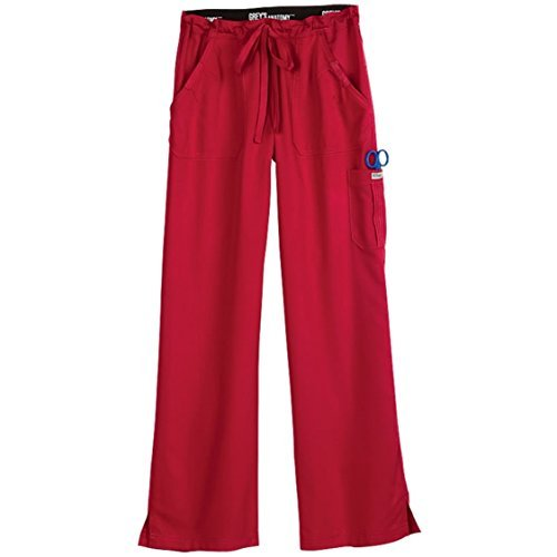 Grey's Anatomy Junior Fit Cargo Scrub Pant (Hot Tamale, XXS)