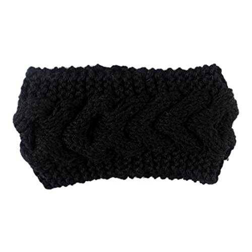 Knitted Floral Headband Warm Ear Warmer Headwrap & Hairband naturalwell flower headband bandage lace hairband girls hairpiece child hair accessory baby hairband newborn shower gift hb090